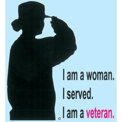 Mitchell Proffitt Woman Veteran Silhouette Decal
