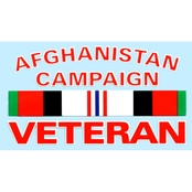 Mitchell Proffitt Afghanistan Campaign Veteran with Ribbon Decal