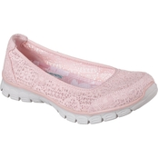 Skechers EZ Flex 3.0 Beautify Memory Foam Crochet Lace Skimmer Shoes