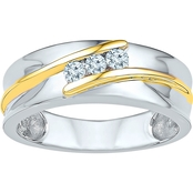 10K Two Tone Gold 1/5 CTW Diamond Ring