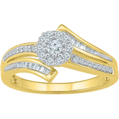 10K Yellow Gold 3/8 CTW Promise Ring