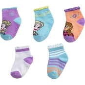 Disney Toddler Girls Elsa Snowflake Socks 5 pk.