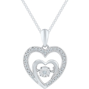 Sterling Silver 1/10 CTW Diamond Heart Pendant