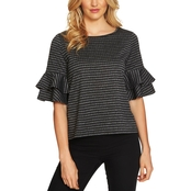 CeCe Tiered Ruffle Knit Top