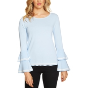 CeCe Tiered Pullover Sweater