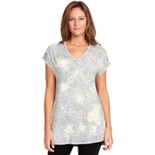 Gloria Vanderbilt V Neck Top
