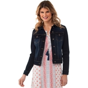 Cherokee Button Front Denim Jacket