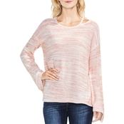 Two by Vince Camuto Space Dye Split Neck Sweater