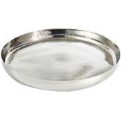 Leeber Hammered Stainless Steel Round Tray