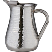 Leeber Hammered Stainless Steel Pitcher with Ice Guard