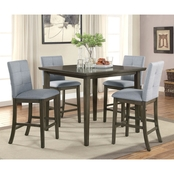 Furniture of America Charlene 5 Pc. Pub Dining Set with Gray Finish