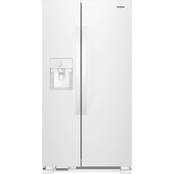 Whirlpool 24.5 Cu. Ft. Stainless Steel Side by Side Refrigerator