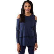 Michael Kors Cold Shoulder Inset Top