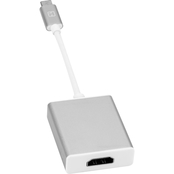 iHome 6 in. Nylon USB Type-C Male to HDMI Female Display Adapter Aluminum Tips