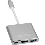 iHome USB Type-C Hub with HDMI port, USB 3.0 and Type-C port