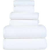 Lavish Home 100% Cotton Zero Twist 6 Pc Towel Set