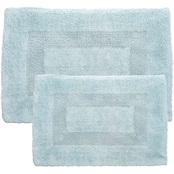 Lavish Home 100% Cotton 2 Pc. Reversible Rug Set