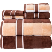 Lavish Home 100% Cotton Oakville Velour 6 Pc Towel Set