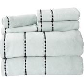 Lavish Home Quick Dry 100% Cotton Zero Twist 6 Pc Towel Set