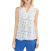 Vince Camuto Scatter Bouquet V Neck Blouse