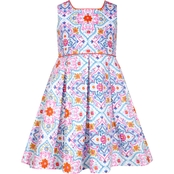 Bonnie Jean Little Girls Pleated Fit and Flare Dress