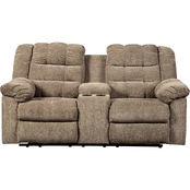 Ashley Workhorse Reclining Loveseat with Console