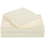 Charisma Home 310 Thread Count Classic Solid Cotton Sateen Sheet Set