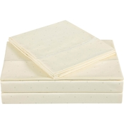 Charisma Home 310 Thread Count Classic Dot Cotton Sateen Sheet Set