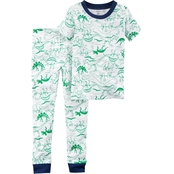 Carter's Infant Boys 2 Pc. Dinosaur Snug Fit Pajama Set