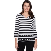 Alfred Dunner Stripe Sweater