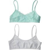 Maidenform Girls Lace Crop Bra 2 Pk.