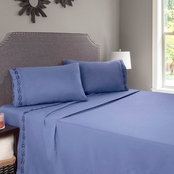 Lavish Home Embroidered Brushed Microfiber Sheets Set