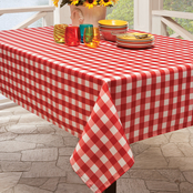 Benson Mills BBQ Red Check Printed Tablecloth