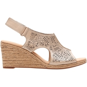 Clarks Lafely Rosen Rope Wedge Sandals