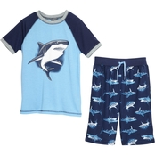 Jellifish Kids Little Boys 2 Pc. Shark Pajama Set