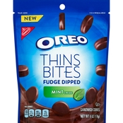 Oreo Thins Bites Fudge Dipped Mint 6 oz.