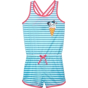 Jelli Fish Kids Little Girls Dog Sleep Romper, Size 6/6X