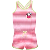Jelli Fish Kids Little Girls Panda Sleep Romper, Size 6/6X