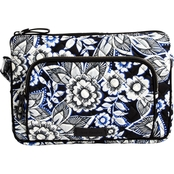 Vera Bradley Iconic RFID Little Hipster Snow Lotus