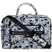 Vera Bradley Iconic Weekender Travel Bag Snow Lotus