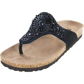 White Mountain Beaded Comfort Footbed Sandals