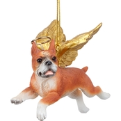 Design Toscano Honor the Pooch Boxer Holiday Dog Angel Ornament