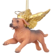 Design Toscano Honor the Pooch Dachshund Holiday Dog Angel Ornament