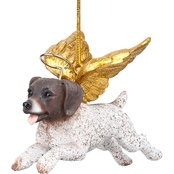 Design Toscano Honor the Pooch Pointer Holiday Dog Angel Ornament