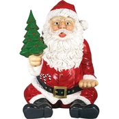 Design Toscano Giant Sitting Santa Claus Hand Seat Statue
