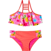 Limited Too Girls Emoji 2 Pc. Bikini Swimsuit