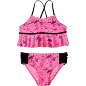 Limited Too Girls 2 Pc. Summer Foil Print Swimsuit
