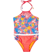 Limited Too Girls Tropical Print Tankini Swimsuit