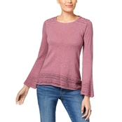 Style & Co. Petite Crochet Trim Sweater