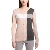 Calvin Klein Collection Piping Detail Open Flyaway Cardigan